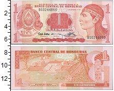 Изображение Банкноты Северная Америка Гондурас 1 лемпира 1992  UNC