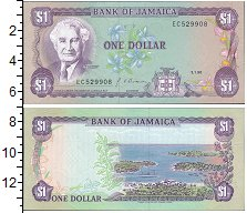 Изображение Банкноты Ямайка 1 доллар 1960  XF-