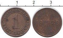 Изображение Дешевые монеты Европа Германия 1 пфенниг 1929 Медь VF