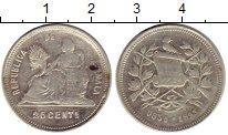 Изображение Монеты Северная Америка Гватемала 25 сентаво 1893 Серебро VF
