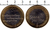 Изображение Монеты Европа Словения 3 евро 2015 Биметалл UNC-