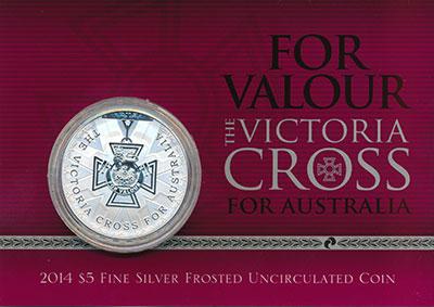 Изображение Подарочные монеты Австралия 5 долларов 2014 Серебро UNC