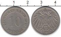 Изображение Монеты Германия 10 пфеннигов 1891 Медно-никель XF F