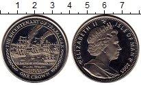 Изображение Монеты Остров Мэн 1 крона 2005 Медно-никель UNC- 200 лет трафалгарско