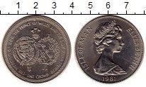Изображение Монеты Остров Мэн 1 крона 1981 Медно-никель UNC- Свадьба принца Уэльс