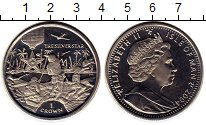 Изображение Монеты Остров Мэн 1 крона 2004 Медно-никель UNC-