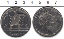 Изображение Монеты Остров Мэн 1 крона 2012 Медно-никель UNC-