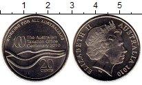 Изображение Монеты Австралия 20 центов 2010 Медно-никель UNC-