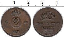 Изображение Монеты Швеция 2 эре 1953 Бронза XF