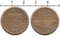 Изображение Монеты Нидерланды 5 центов 1990 Латунь XF