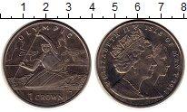 Изображение Монеты Остров Мэн 1 крона 2012 Медно-никель UNC- Елизавета II.  Олимп