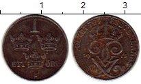 Изображение Монеты Швеция 1 эре 1943 Железо XF Густав V