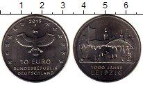 Изображение Монеты Германия 10 евро 2015 Медно-никель Proof- 1000 лет Лейпцигу