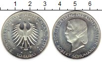 Изображение Монеты Германия 10 евро 2010 Серебро UNC- Роберт  Шуман