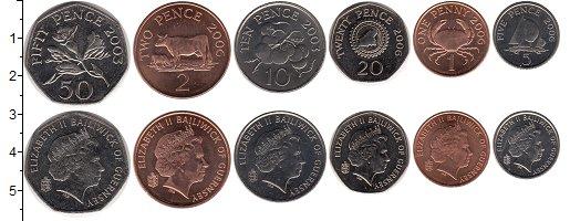 Изображение Наборы монет Великобритания Гернси Гернси 1992-2012 0  UNC