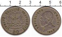 Изображение Монеты Северная Америка Гаити 50 центов 1908 Медно-никель XF-