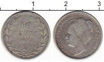 Изображение Монеты Европа Нидерланды 10 центов 1909 Серебро VF