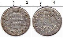 Изображение Монеты Южная Америка Боливия 20 сентаво 1878 Серебро XF-