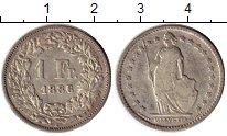 Изображение Монеты Швейцария 1 франк 1886 Серебро XF