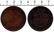 Изображение Монеты Европа Португалия 20 рейс 1850 Медь XF-
