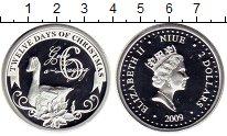 Изображение Монеты Ниуэ 2 доллара 2009 Серебро Proof