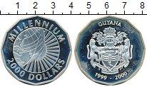 Изображение Монеты Гайана 2000 долларов 2000 Серебро UNC-