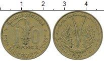 Изображение Монеты Африка Французская Западная Африка 10 франков 1967 Латунь XF