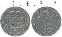 Изображение Монеты Африка Французская Западная Африка 50 франков 2007 Медно-никель XF