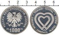 Изображение Монеты Польша 1000 злотых 1986 Серебро Proof-