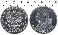Изображение Монеты Польша 200 злотых 1982 Серебро Proof Понтифик  Иоанн  Пав