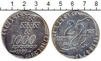 Изображение Монеты Европа Португалия 1000 эскудо 1999 Серебро UNC-