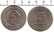 Изображение Монеты Южная Америка Колумбия 5 песо 1968 Медно-никель XF+