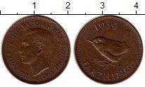 Изображение Монеты Великобритания 1 фартинг 1939 Бронза XF Георг VI