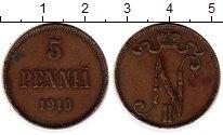 Изображение Монеты Европа Финляндия 5 пенни 1910 Медь XF-