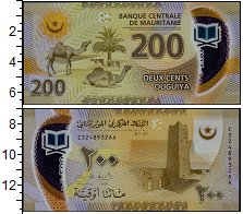 Изображение Банкноты Мавритания 200 угий 2017 Пластик UNC