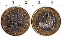 Изображение Монеты Монако 10 франков 1989 Биметалл XF+