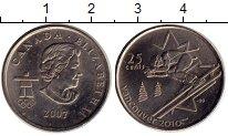 Изображение Монеты Северная Америка Канада 25 центов 2007 Медно-никель UNC-