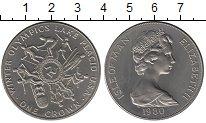 Изображение Монеты Великобритания Остров Мэн 1 крона 1980 Медно-никель UNC-