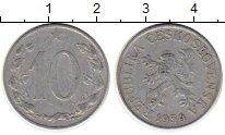 Изображение Монеты Чехословакия 10 хеллеров 1954 Алюминий VF