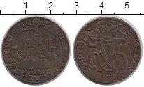 Изображение Монеты Дания Датская Индия 24 скиллинга 1764 Медь XF-