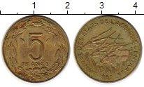 Изображение Монеты Центральная Африка 5 франков 1982 Латунь XF