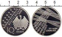 Изображение Монеты Германия 10 евро 2003 Серебро Proof- 50 лет забастовке в