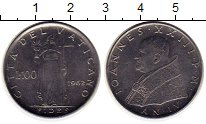 Изображение Монеты Европа Ватикан 100 лир 1962 Сталь XF