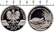 Изображение Монеты Польша 20 злотых 2002 Серебро Proof Черепаха
