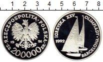 Изображение Монеты Польша 200000 злотых 1991 Серебро Proof