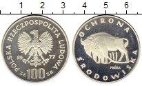 Изображение Монеты Польша 100 злотых 1977 Серебро Proof- Охрана окружающей ср