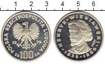 Изображение Монеты Польша 100 злотых 1979 Серебро Proof- Генрик Венявский,Про