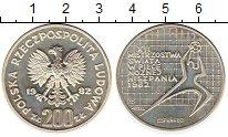 Изображение Монеты Европа Польша 200 злотых 1982 Серебро Proof-