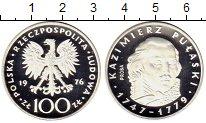 Изображение Монеты Польша 100 злотых 1976 Серебро Proof- Казимир Пулавский,Пр