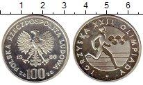 Изображение Монеты Польша 100 злотых 1980 Серебро Proof- Олимпийские игры,бег